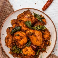 Chicken Peralan | Kerala Style Dry Roasted Chicken