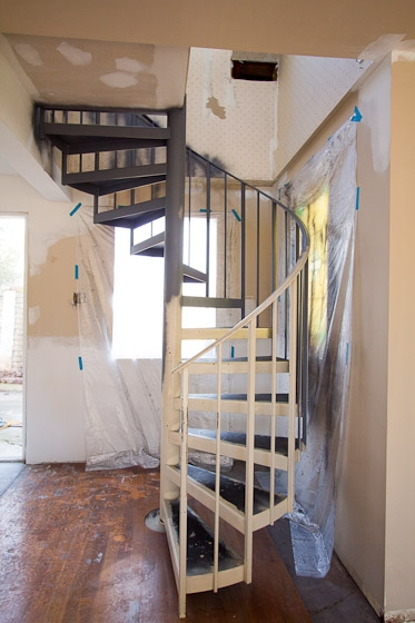 Before And After Painted Stairs | Painting Metal Spiral Staircase | Handrail | Iron | Stair Treads | Steel | Staircase Kit
