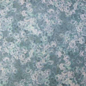 Quilting Patchwork Sewing Fabric SOFT FLORAL BLUE ROSES ALLOVER FQ 50x55cm New
