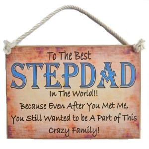 Country Printed Quality Wooden Sign STEPDAD Funny Inspiring Plaque Fathers Day New