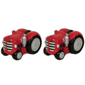 French Country Chic Collectable Novelty Salt and Pepper Set Red Tractor New