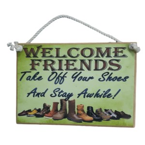 Country Printed Quality Wooden Sign TAKE OFF YOUR SHOES Inspiring Plaque New