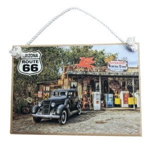 Country Printed Quality Wooden Sign ROUTE 66 STORE Vintage Look Plaque New