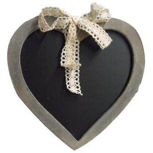 Country Printed Quality Wooden Sign BLACKBOARD HEART Cute Wedding Plaque New
