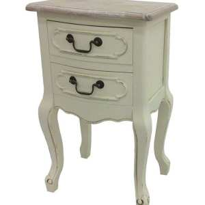 French Country Beside Table with 2 drawers