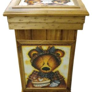 French Country Inspired Country Handmade Wooden Rubbish Bin Large Size