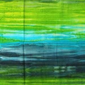 Quilting Patchwork Sewing Fabric BATIK GREEN BLUE BLACK Cotton 50x110cm Half Meter NEW