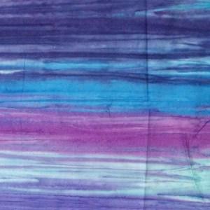 Quilting Patchwork Sewing Fabric BATIK PURPLE BLUE HUES Cotton 50x110cm Half Meter NEW