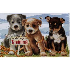 Country Threads Cross Stitch Kit - Work Dogs in Training