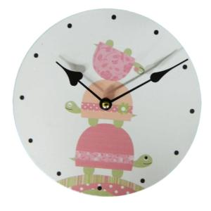 Clock French Country Vintage Inspired Wall Clocks Time PINK TURTLE Small 29cm