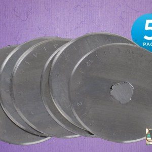 Set of 5 Rotary Cutting Blades 45mm All Brands, Olpha, Clover, Truecut, Kai