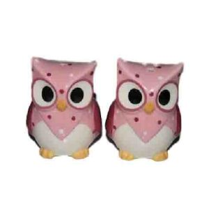 Collectable Novelty Kitchen Salt and Pepper Set PINK OWLS Collectable FREEPOST New