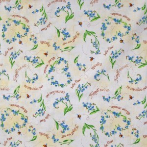 Quilting Patchwork Cotton Sewing Fabric QUILTING BEE FLORAL 50 x 55cm FQ NEW www.somethingscountry.com