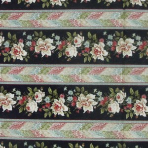 Quilting Patchwork Cotton Sewing Fabric BELLA FLORAL BORDER 50x55cm FQ NEW Material www.somethingscountry.com