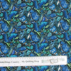 Quilting Patchwork Cotton Sewing Fabric BUTTERFLY WINGS 50x55cm FQ NEW