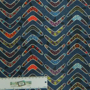 Quilting Patchwork Sewing Fabric GOANNA WALKABOUT Boomerang Cotton 50x55cmFQ NEW