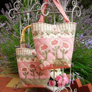 Quilting Sewing Bag Pattern SPRING DELIGHT Sally Giblin Rivendale Collection NEW