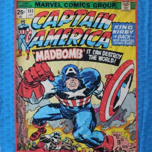 Patchwork Quilting Sewing Fabric MARVEL CAPTAIN AMERICA Panel 90 x 110cm New Material