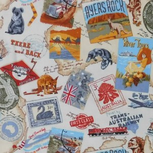 Quilting Patchwork Sewing Fabric AUSTRALIAN GOLD 2 Cotton Material 50x55cmFQ NEW