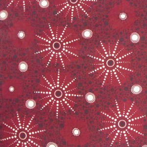 Patchwork Quilting Sewing Fabric ABORIGINAL SEVEN SISTERS RED Material Cotton 50x55cm FQ New