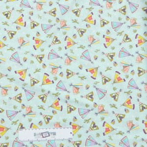 Quilting Patchwork Sewing Fabric INDIAN TEE PEES 50x55cm FQ New Material