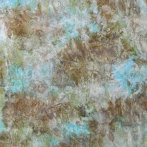 Quilting Patchwork Batik Fabric BROWNS BLUES SPLASH Wide Backing 270x50cm New Queen King