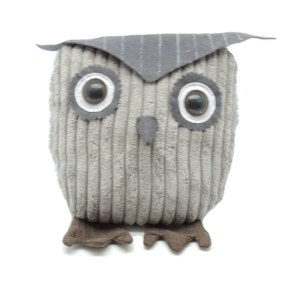 French Country Vintage Inspired CORDUROY OWL Weighted Door Stopper New