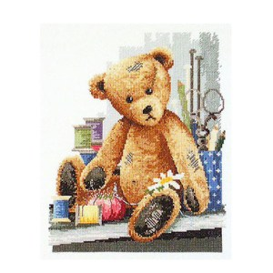 Country Threads Cross Stitch Counted X Stitch Pattern Graph THREAD BEAR New FJ-3002 (CT)