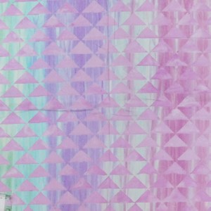Patchwork Quilting Sewing Fabric TRIANGLES PURPLE PINK GREENS Material 50x55cmFQ New
