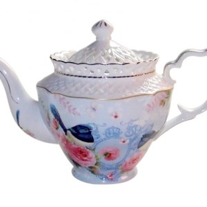French Country Lovely Teapot BLUE WREN China Tea Pot with Giftbox FREEPOST New