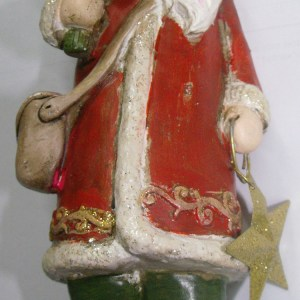 Country Christmas Santa Ornaments Xmas Free Standing with Tree New
