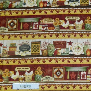 Patchwork Quilting Sewing Fabric PLAIN AND SIMPLE BORDER 50x55cm FQ New