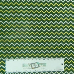Patchwork Quilting Sewing Fabric CHEVRON GREEN METALLIC GOLD 50x55cm FQ New