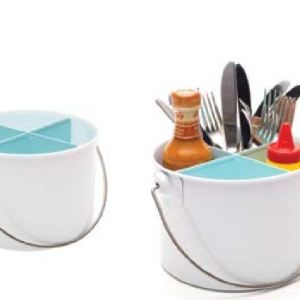 Enamel Retro Enamel UTENSILS CUTLERY CONDIMENT CADDY Kitchen Holder