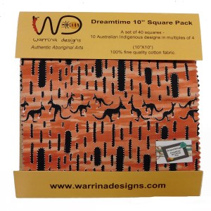 Quilting Layer Cake Cotton ABORIGINAL DREAMTIME 1 10 Inch Squares Fabric NEW
