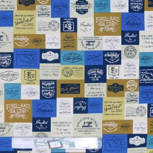 Patchwork Quilting Sewing Fabric SEWING THEMED PATCH Material 50x55cm FQ Cotton DRILL New