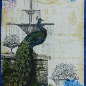 Patchwork Quilting Sewing Fabric PEACOCK Panel 60x110cm New