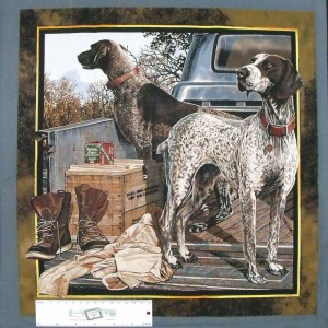 Patchwork Quilting Sewing Fabric DOG DAYS 2 CUSHION Panel 45X45cm New