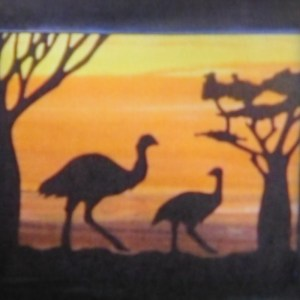 Quilting Sewing AUSTRALIAN Animal EMU Quilt Pattern Kit including Fabric New