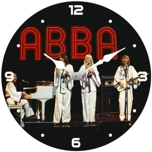 French Country Chic Retro Inspired Wall Clock Small 17cm ABBA New Time