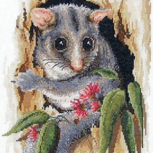 Country Threads Cross Stitch Counted X Stitch Pattern Graph PEEK POSSUM New (CT)