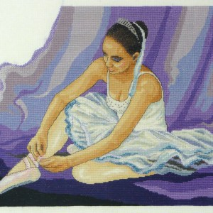 Country Threads Cross Stitch Counted X Stitch Kit BALLERINA Inc Aida New FJ-1073
