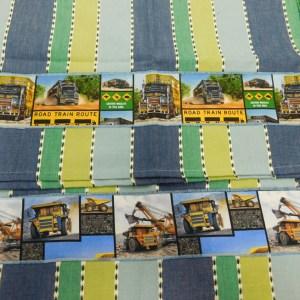 Country Style New Tea Towels Set of 2 ROAD TRAIN MINING TRUCKS Handmade Teatowels NEW