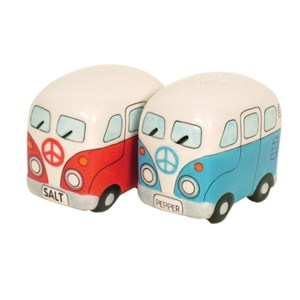 French Country Collectable Novelty Kombi Red Blue Salt and Pepper Set New
