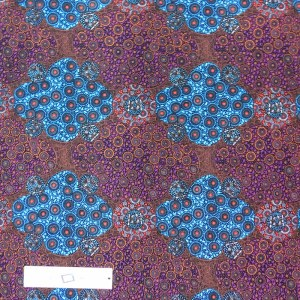 Patchwork Quilting Sewing Fabric Aboriginal Purple Blue Dots 50x55cm FQ New