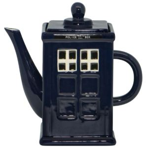 Collectable Novelty Kitchen Teapot Dr Who Police Box China Tea Pot for collector New