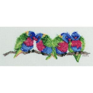 DMC Australian Collection Cross Stitch Kit inc Threads Rainbow Lorikeets New 582103