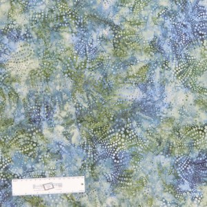 Patchwork Quilting Sewing Fabric Green Grey Spots Batik 50x55cm FQ New Material