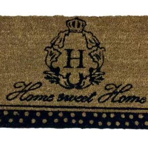 French Country New Front Door Floor Mat Rectangle Coir Home Sweet Home Floormat