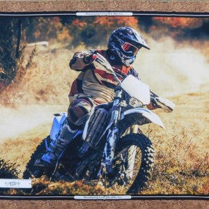 Patchwork Quilting Sewing Fabric Dirt Bikes Cornering Panel 90x110cm New Material